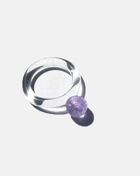 JANE D'ARENSBOURG Glass Dot Ring - Lilac