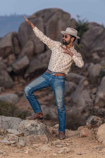 Dushyant Asthana The Bandit Western Shirt - Nomad Print