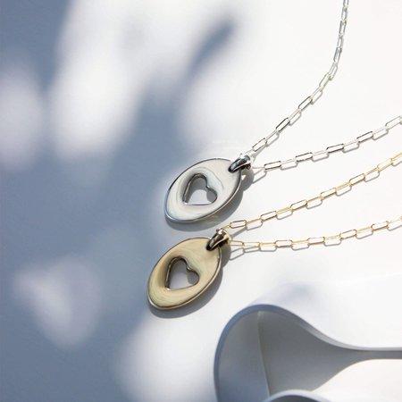 L.Greenwalt Jewelry Heart Pendant Necklace - Silver