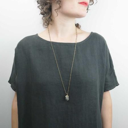 By Natalie Frigo Claw Necklace - Pyrite