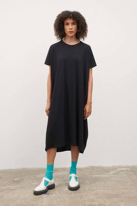 Kowtow Side Pleat Dress - Black