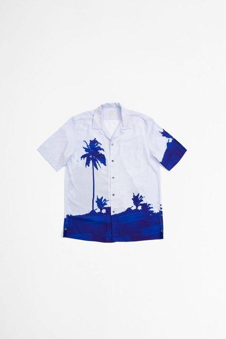 Dries Van Noten Carltone Short Sleeve Shirt - Blue Print
