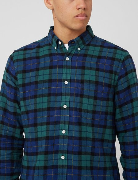Portuguese Flannel Montevideo Check Shirt - Green