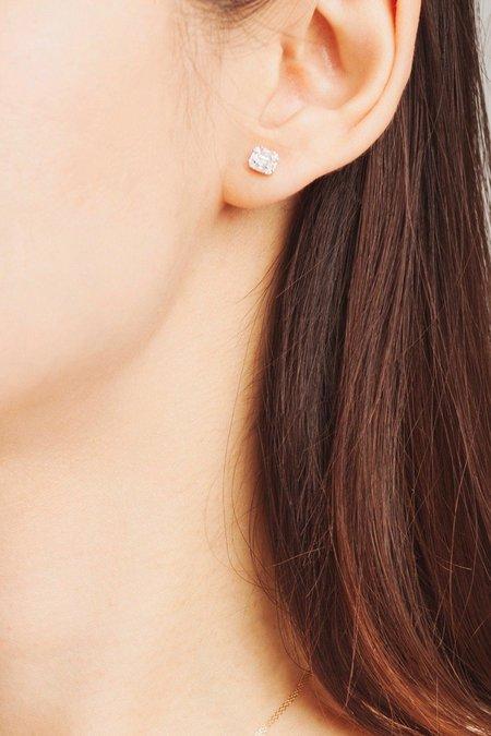 Adina Reyter Multi Baguette Posts earrings - 14k WHITE GOLD