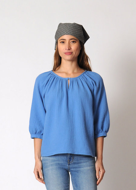 Conifer Reversible Gathered Top - Sky