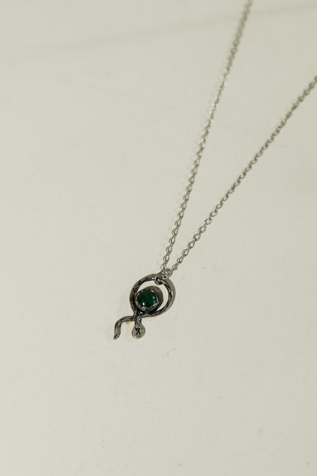 Blue & Blue Serpent Necklace - sterling silver