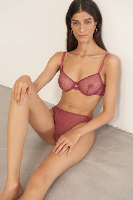 Else Honeycomb Underwire Bra - Orchid
