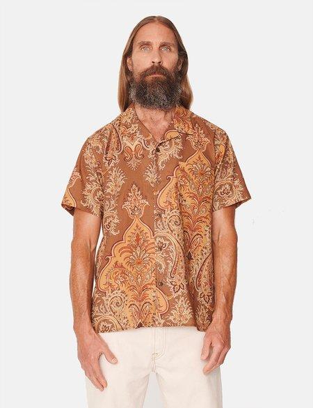 YMC Malick Short Sleeve Shirt - Paisley/Brown