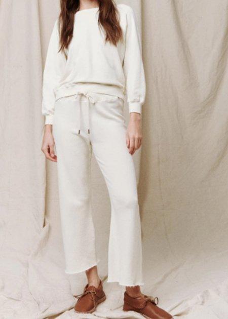 The Great. The Great Shrunken Sweatshirt - White