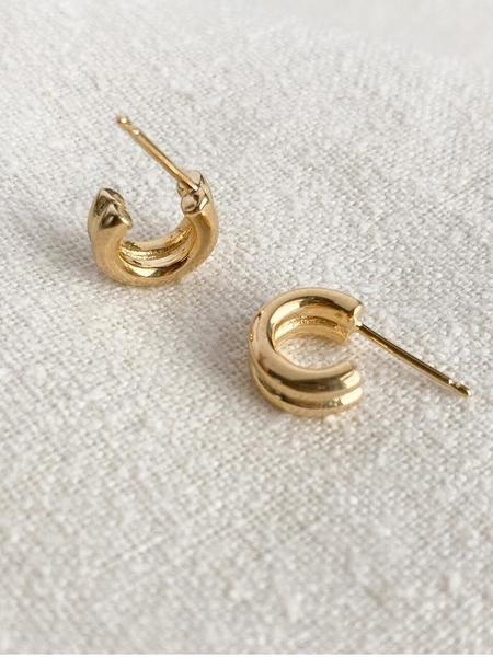 Merewif Double Lil Jane Hoops - Gold