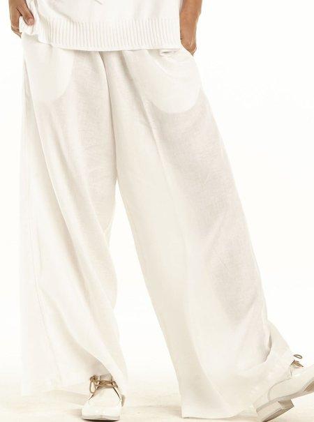 Planet Linen Pants - White