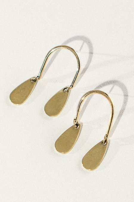 EMBR Jewelry Tiny Mobile Earrings - Brass