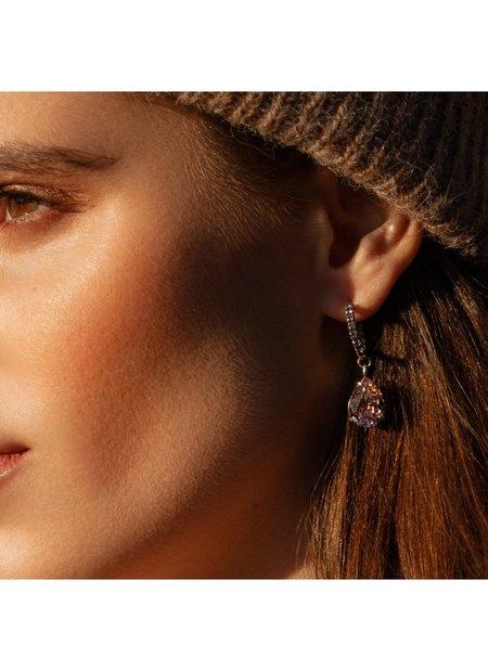 Dannijo Danni Earrings - Pink
