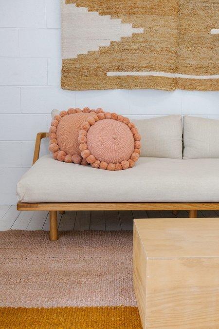 Pampa Monte Pom Pom #1 Medium Cushion - Desert Rose