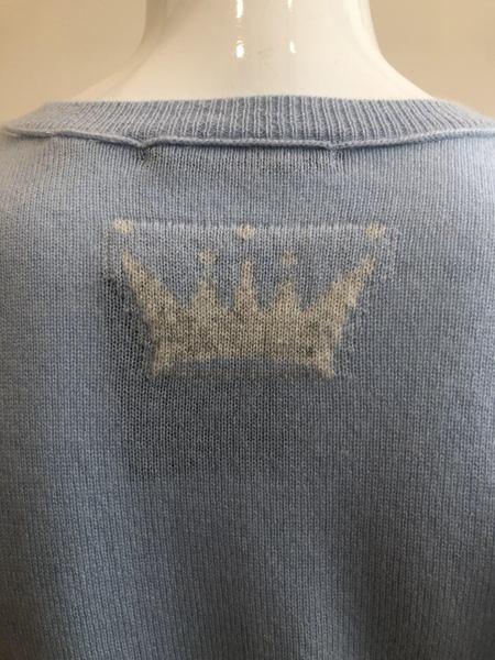 Brazeau Tricot High V Crown Sweater - Pool