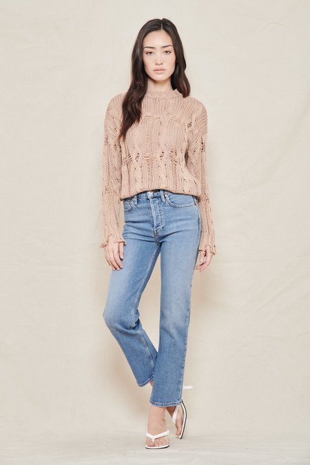 SABLYN Mitzy Cable Knit Sweater - BURNT SUGAR