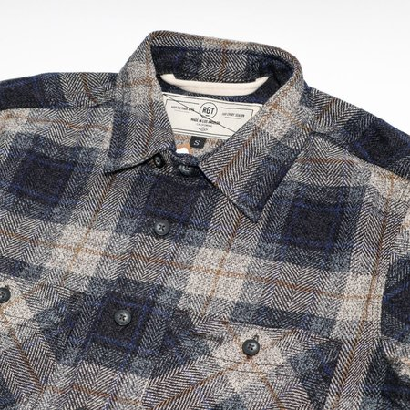 Rogue Territory BM Shirt - Grey HB Plaid