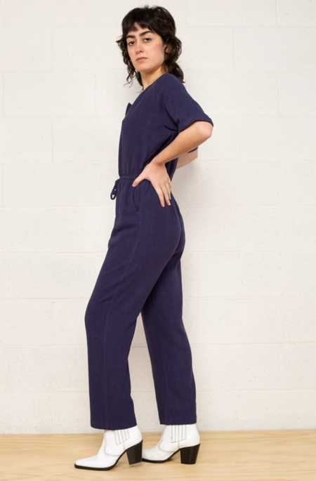No Less Than Alita Jumpsuit - Navy
