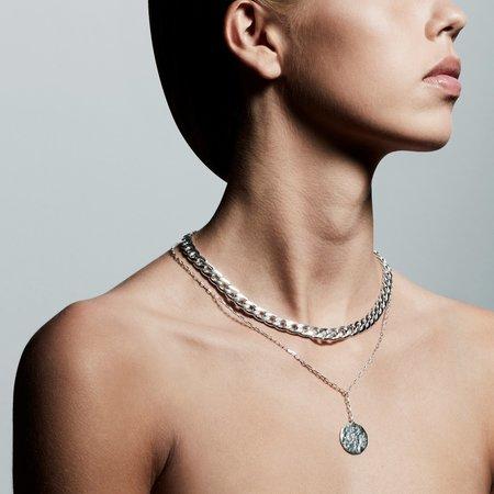 Pilgrim Compass Necklace - Silver
