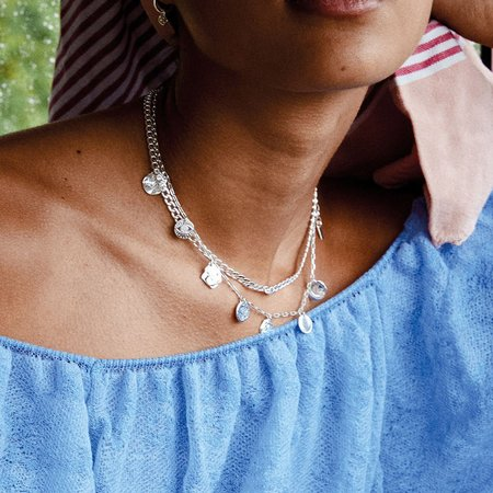 Pilgrim Poesy Necklace - Silver