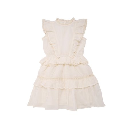 Kids The New Society Antonia Dress - Off White