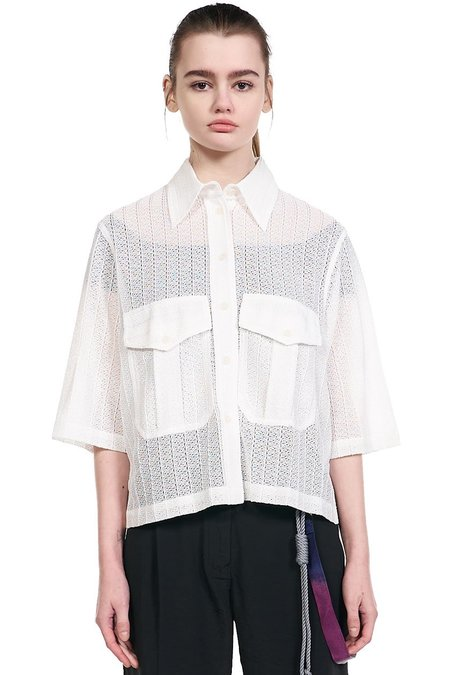 Song for the Mute Lace Shirt - White