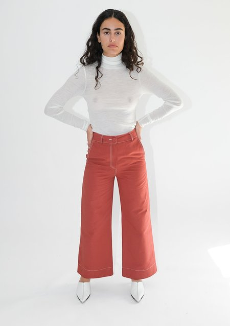 OhSevenDays High Kick Trousers - Redwood