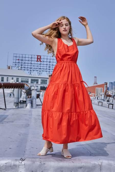 RUJUTA SHETH Gema Tier Dress - Sunset