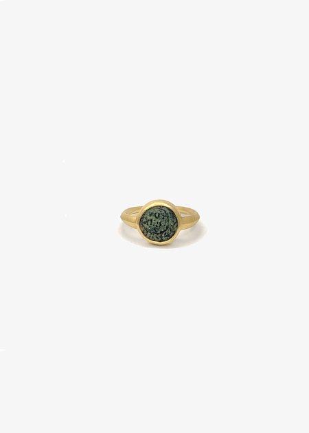 Agas & Tamar 14K Gold Coin Ring