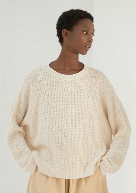 Mónica Cordera Cable Sweater - Natural