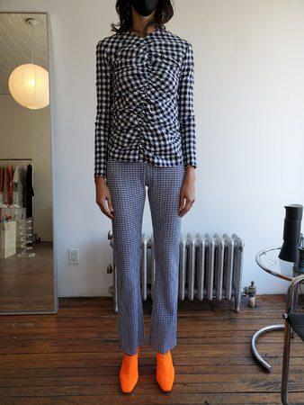Nomia Knit Pants - Navy/White Stripes