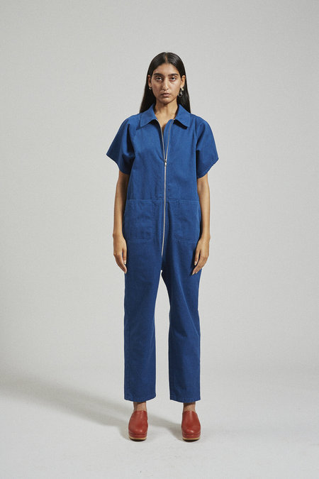 Rachel Comey Barrie Jumpsuit - Blue Chino Twill