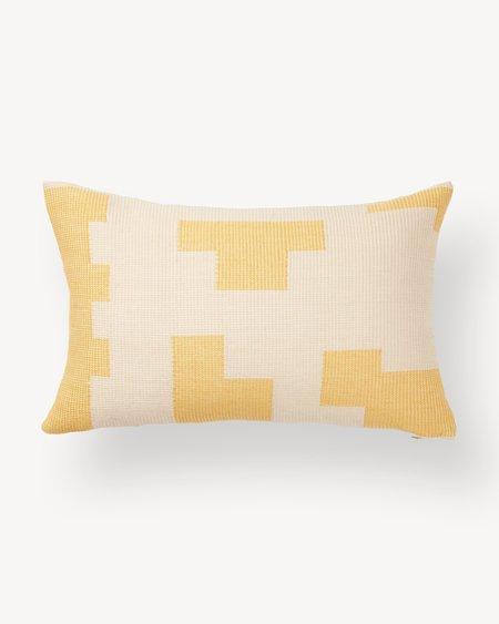 Minna Goods Puzzle Lumbar Pillow - Lemon