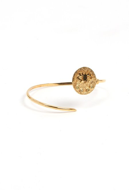 Hermina Athens Kressida Thin Cuff - gold plated/sterling silver