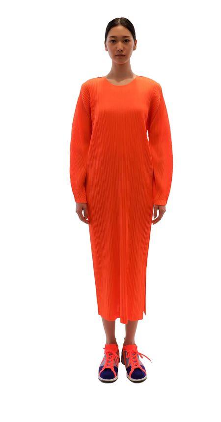 Pleats Please by Issey Miyake January Dress - Orange