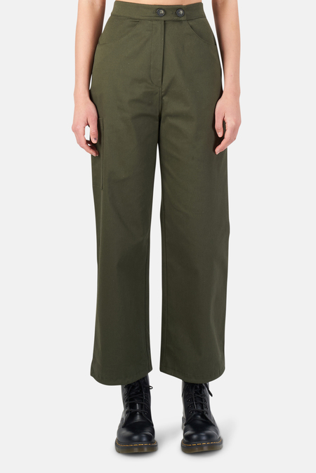 The Range Structured Twill Cargo Pants - Deep Woods