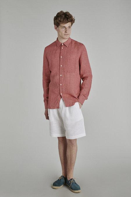 Delikatessen Feel Good Delavè Linen Shirt - Strawberry