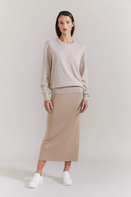 Laing Home The Essential Cashmere Crew sweater - Oatmeal