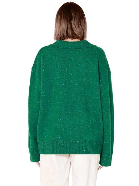 Sympathique Amalia Oversized Sweater - Green