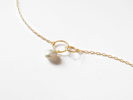Sara Golden Baroque Pearl Necklace