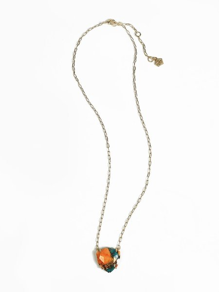 Sara Golden Halcott Necklace - Turquoise