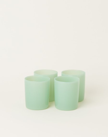 Maison Balzac Set of 4 Goblets - Opaque Mint