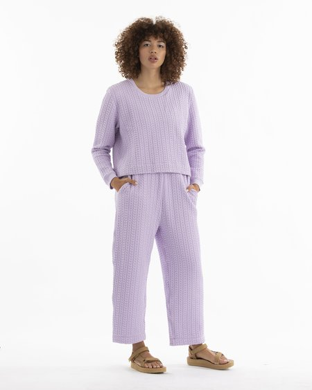 Ali Golden Quilted Pant - Lilac