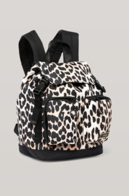 Ganni Small Backpack - Leopard