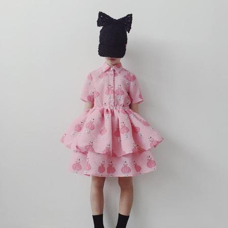 Kids caroline bosmans layered dress - poppy princess Pink