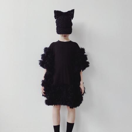 Kids caroline bosmans ruffled dress - black
