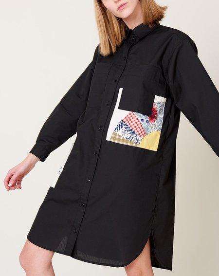 Carleen Patchwork Roadtrip Dress - Black
