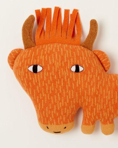 Kids Donna Wilson Hamish the Highland Cow toy - Orange