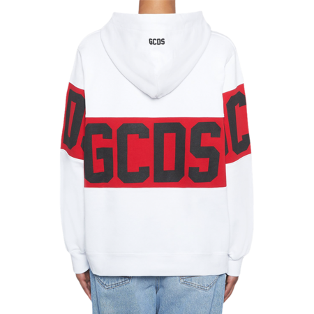GCDS Band Logo Women CC94W021002-01 Hoodie - White/Red
