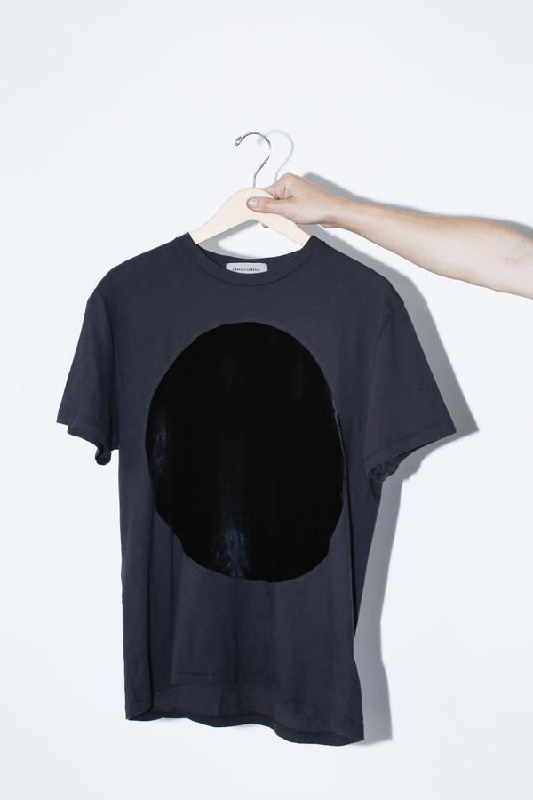 Unisex Correll Correll Velvet Circle T-shirt - Black